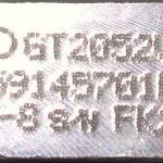 garrett azonosító tábla