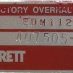 garrett azonosító tábla, piros-ezüst