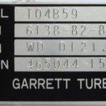 garrett azonosító tábla, fekete ezüst