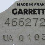 garrett azonosító tábla, szürke fekete